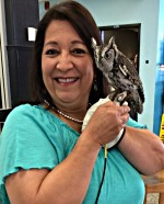 Amy with owl